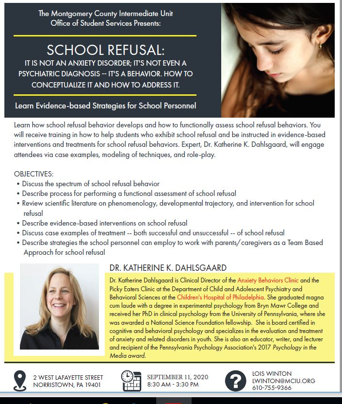 School Refusal: Evidence-Based Strategies for School Personnel