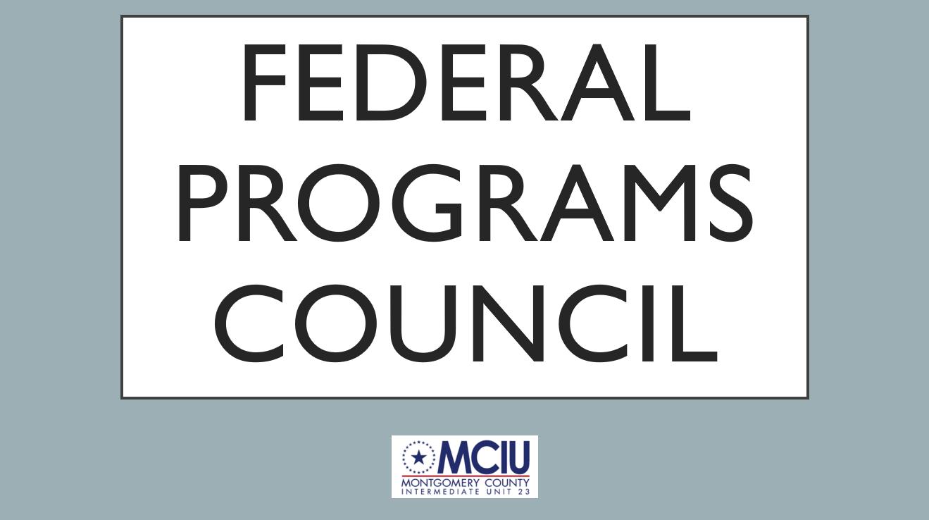 Federal Programs Council - Fall 2020